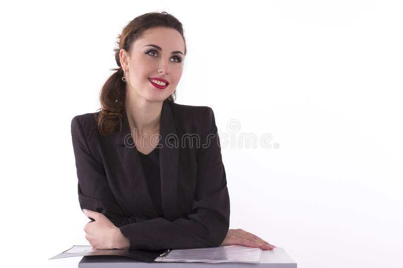 Successful businesswoman looking away royalty free stock photography
