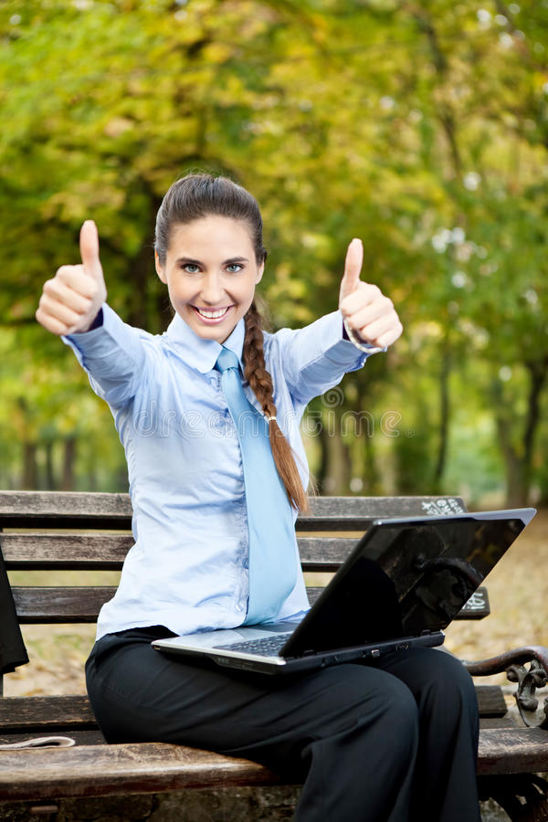Successful businesswoman outdoor royalty free stock image