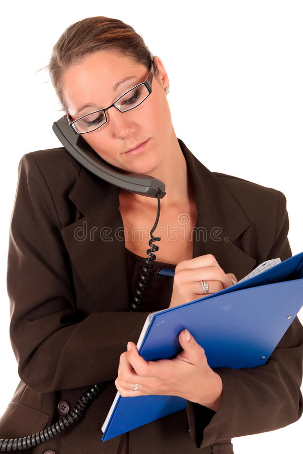 Download Successful Businesswoman Phone Stock Image - Image: 15632259