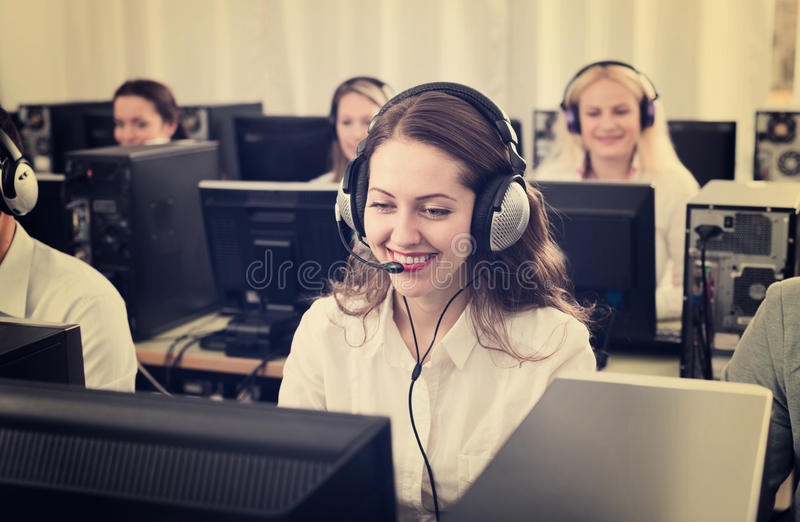 Successful call center stock images