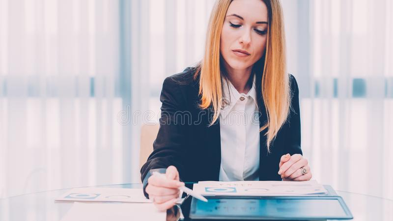Successful career confident business woman office royalty free stock photos