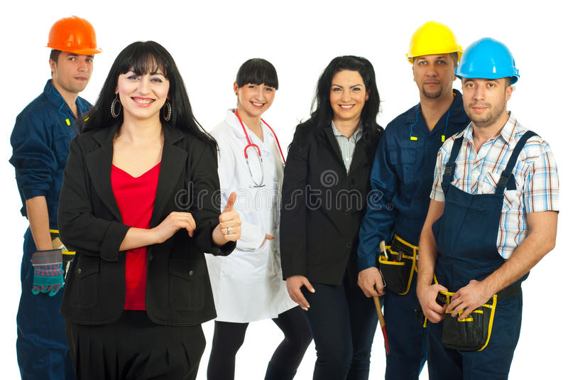 Successful careers people royalty free stock photos