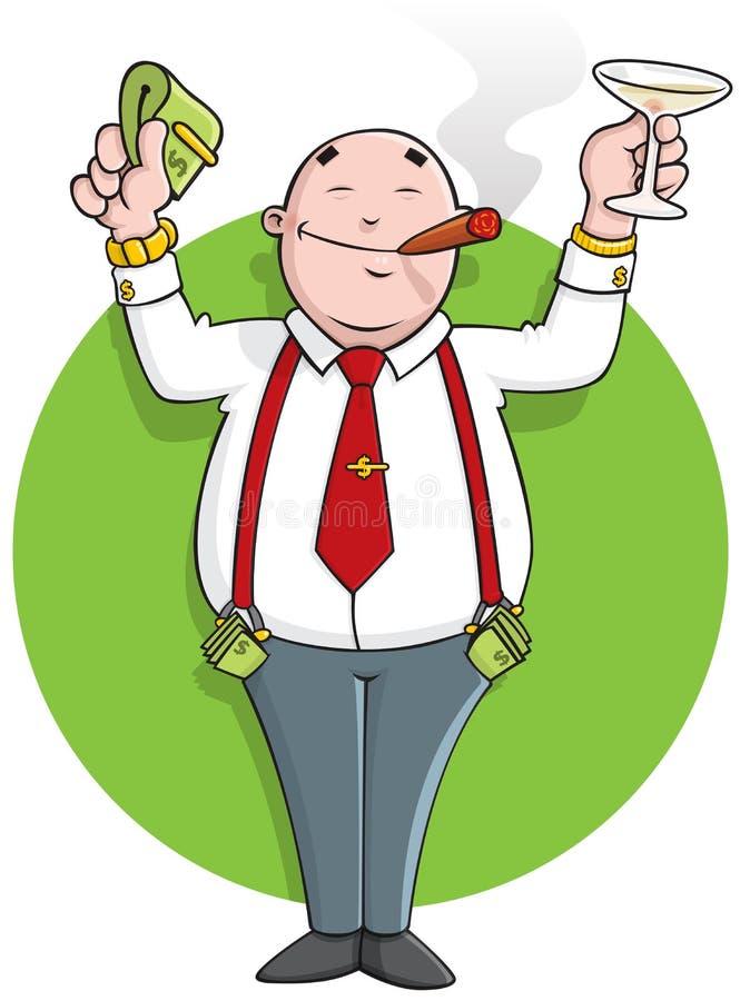 Successful cartoon businessman stock illustration