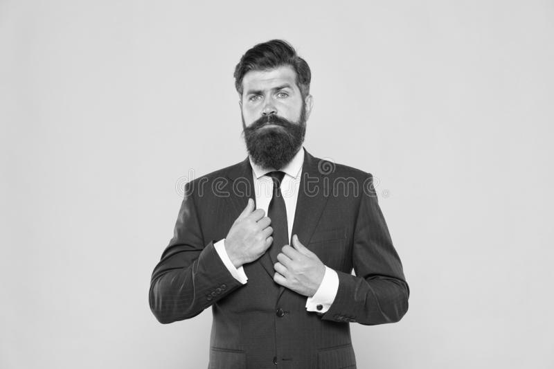 Successful and charismatic lawyer. leadership concept. life management. superior business solutions. businessman formal royalty free stock image