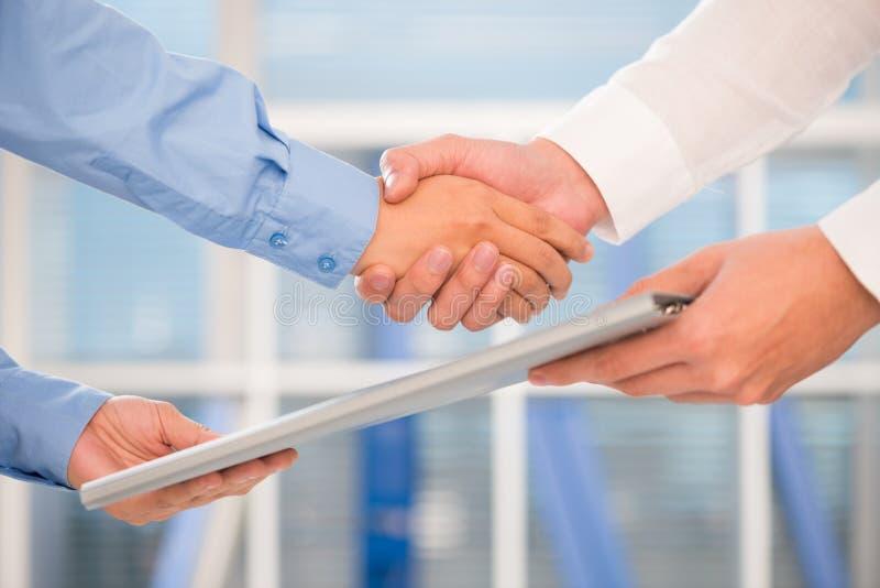 Successful collaboration stock image