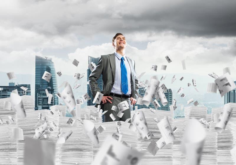 Successful confident businessman in suit. stock photos