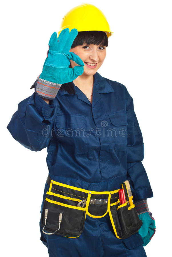 Download Successful Constructor Worker Female Stock Image - Image: 19108423