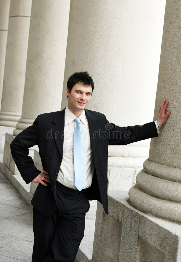 Successful corporate man royalty free stock photography