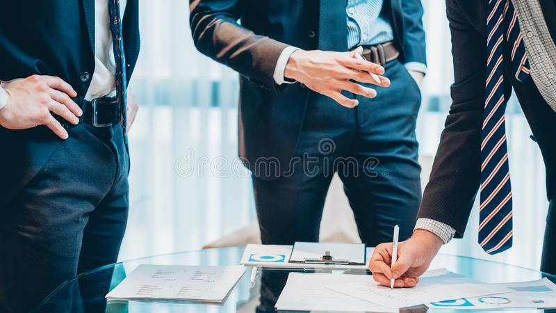 Successful corporate meeting business man contract royalty free stock image