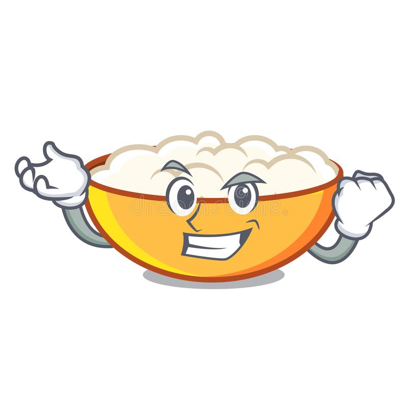 Successful cottage cheese character cartoon. Vector illustration royalty free illustration