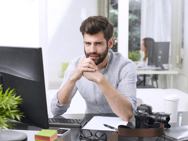 Successful creative man stock images