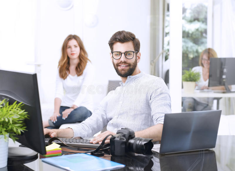 Successful creative man royalty free stock images