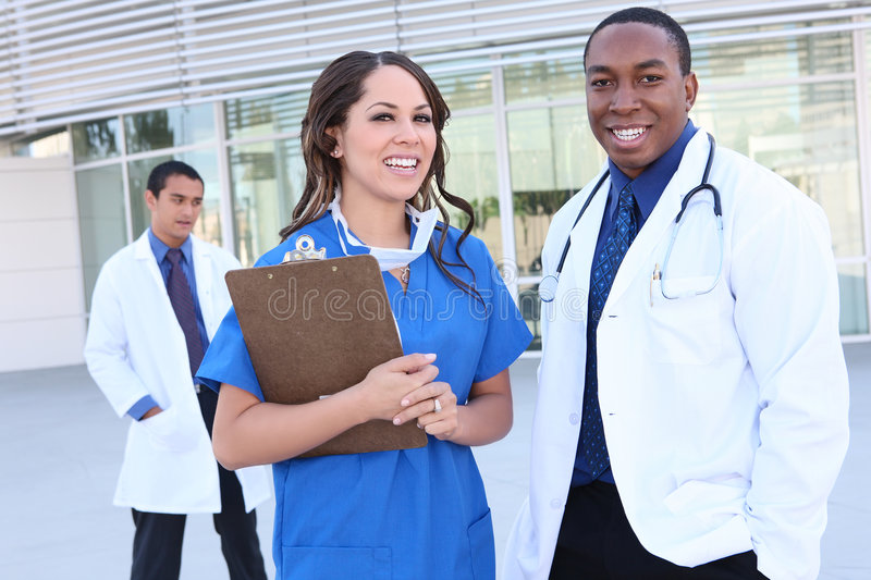 Successful Diverse Medical Team royalty free stock image