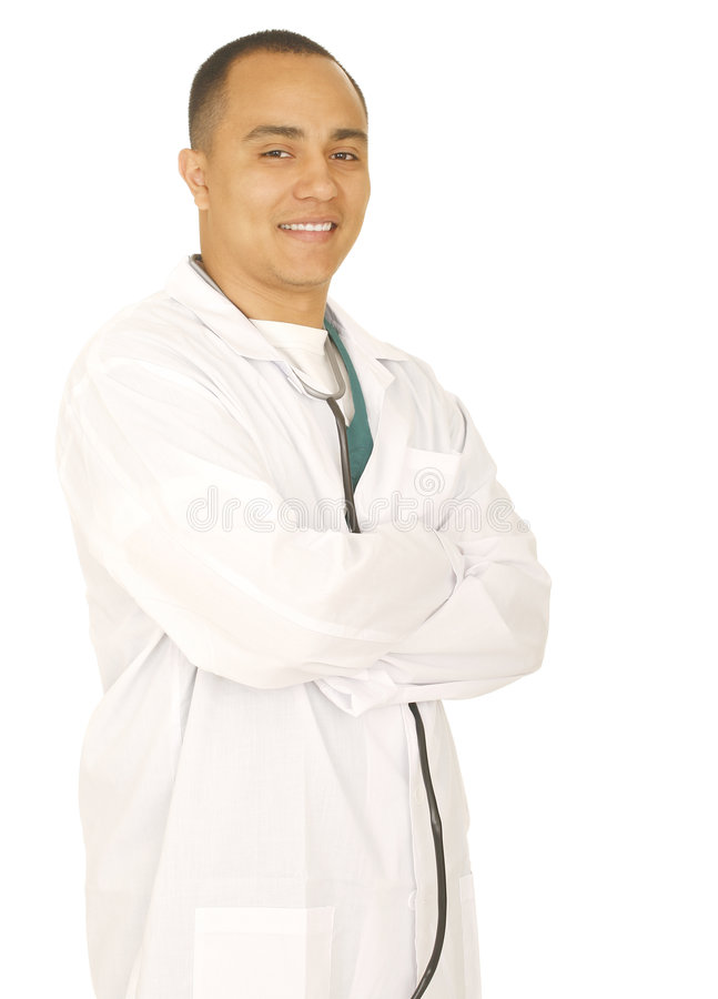 Download Successful Doctor Folding Hand Stock Image - Image: 5018491