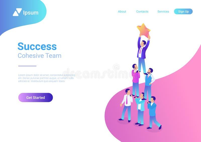 Successful dream team teamwork pyramid star busine royalty free illustration