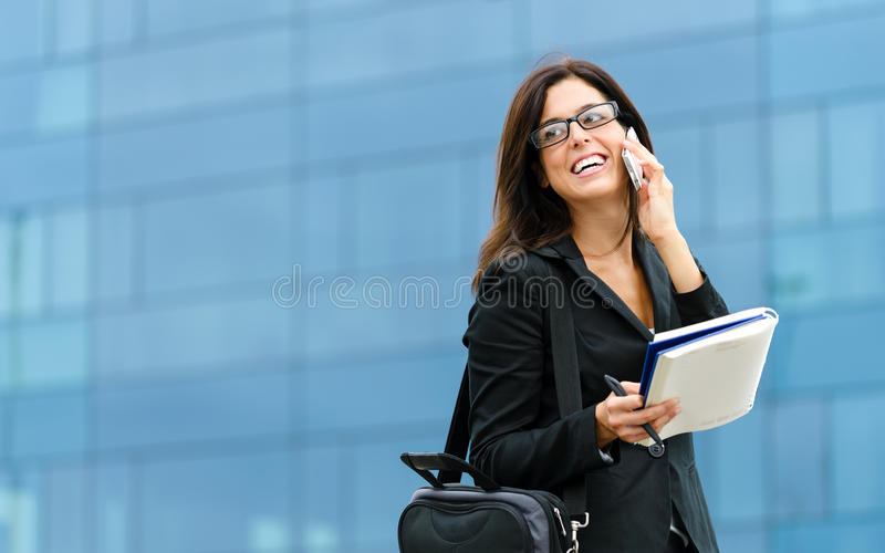 Successful female business entrepreneur royalty free stock photos