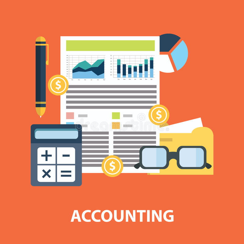 Successful financial business plan report and accounting concept vector illustration.  vector illustration