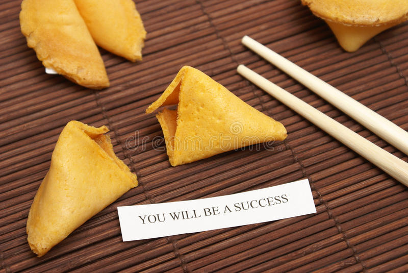 Successful Fortune Cookie Stock Image