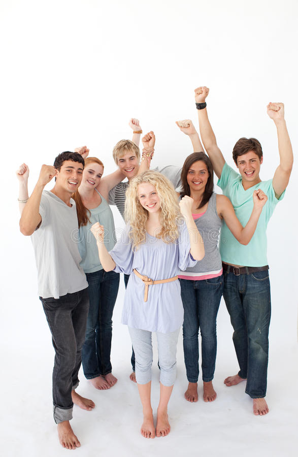 Download Successful Friends Standing Stock Image - Image: 11933091