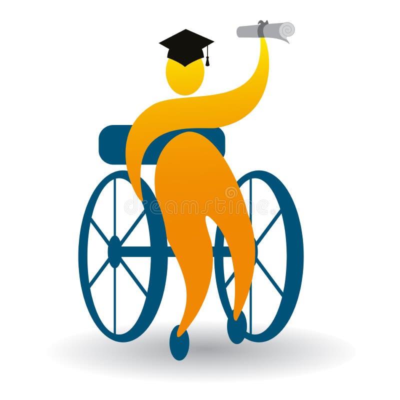 Successful graduate. Illustration of successful graduate design on white background stock illustration