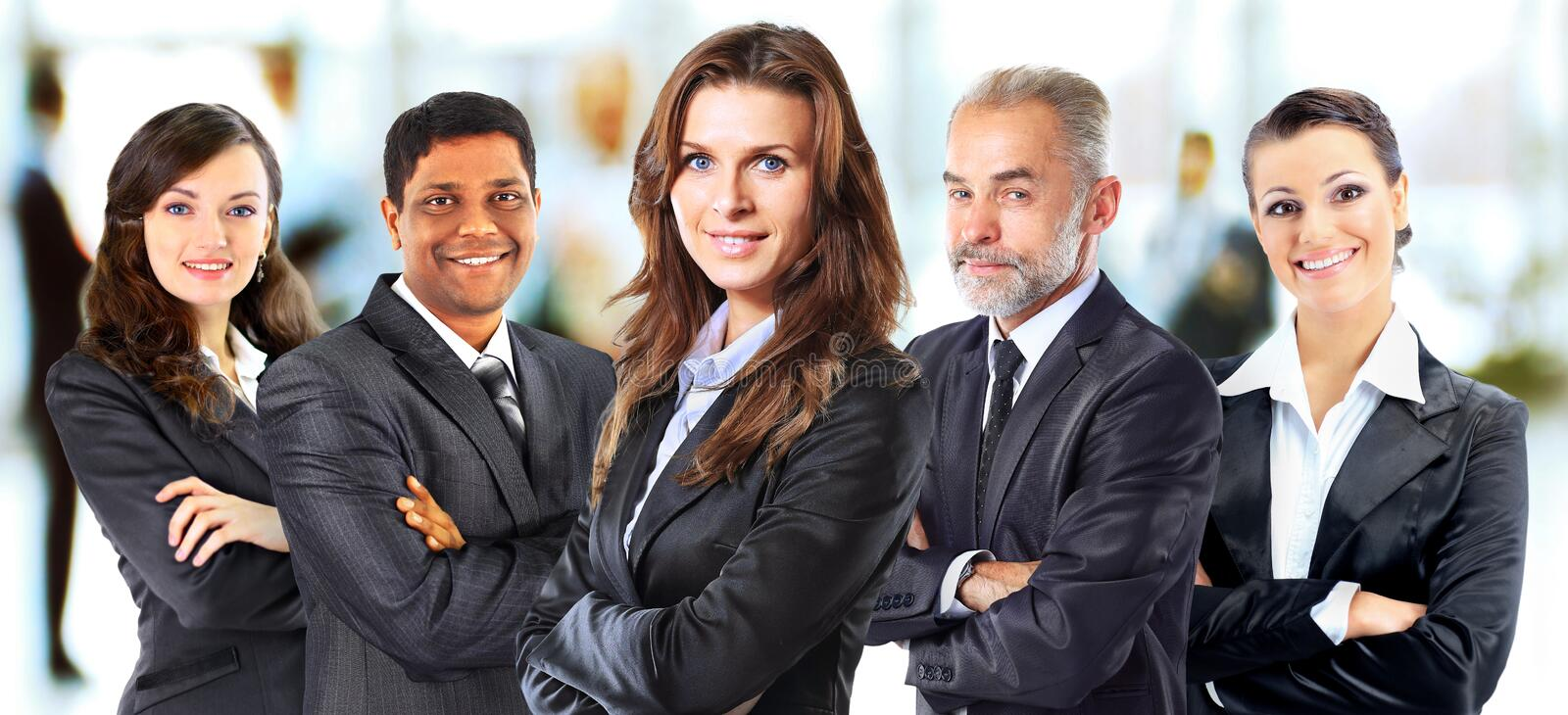 Successful group of business people stock photos