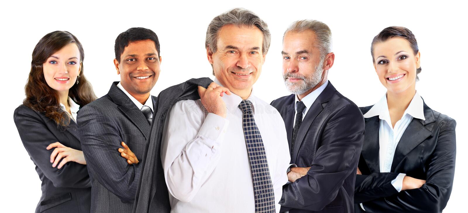 Successful group of business people stock images