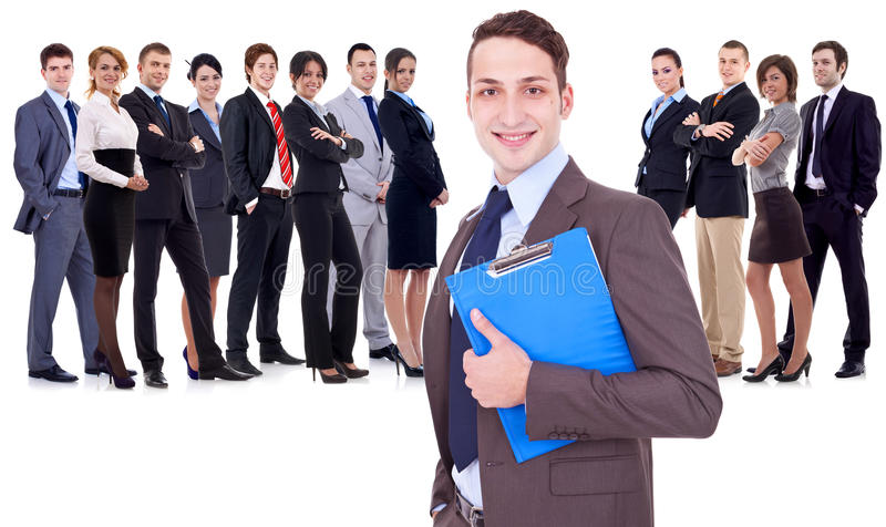 Successful happy business team stock image