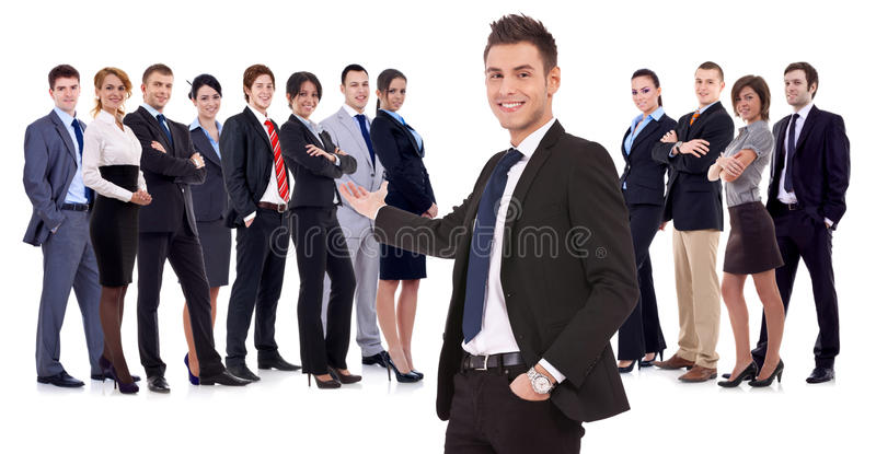 Successful happy business team royalty free stock photo