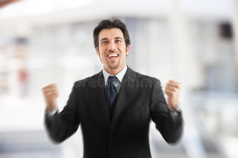 Successful happy mature business man stock photo