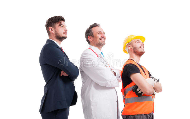 Successful leaders with different professions royalty free stock photo