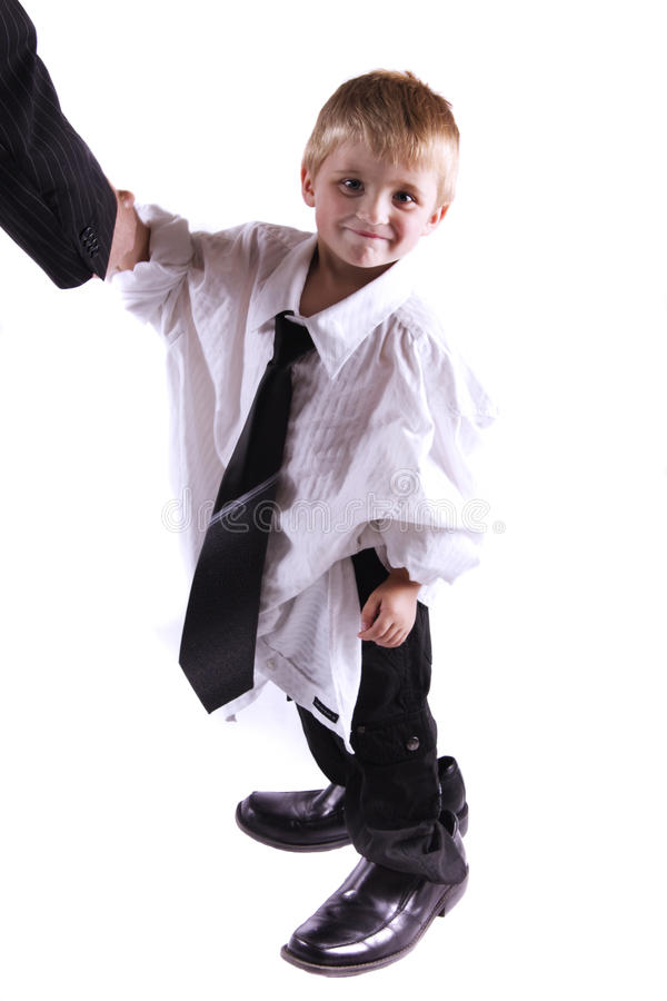 Successful little business man stock images