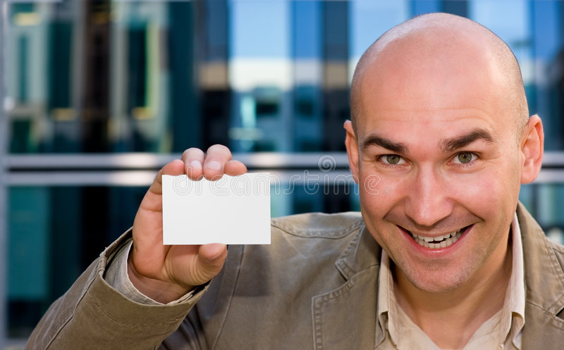 Download Successful Man With Business Card Stock Image - Image: 7203045