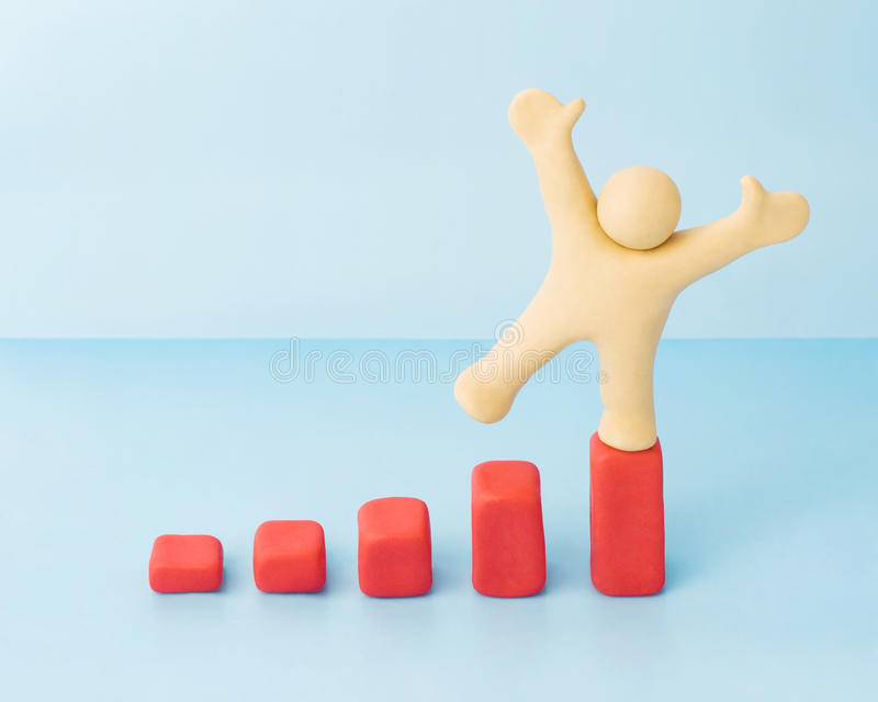 Download Successful Man On Growing Income Diagram Stock Illustration - Image: 14164185