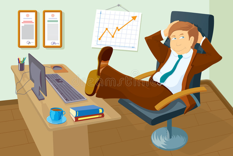 Download The successful manager stock vector. Image of collar, occupation - 8475705