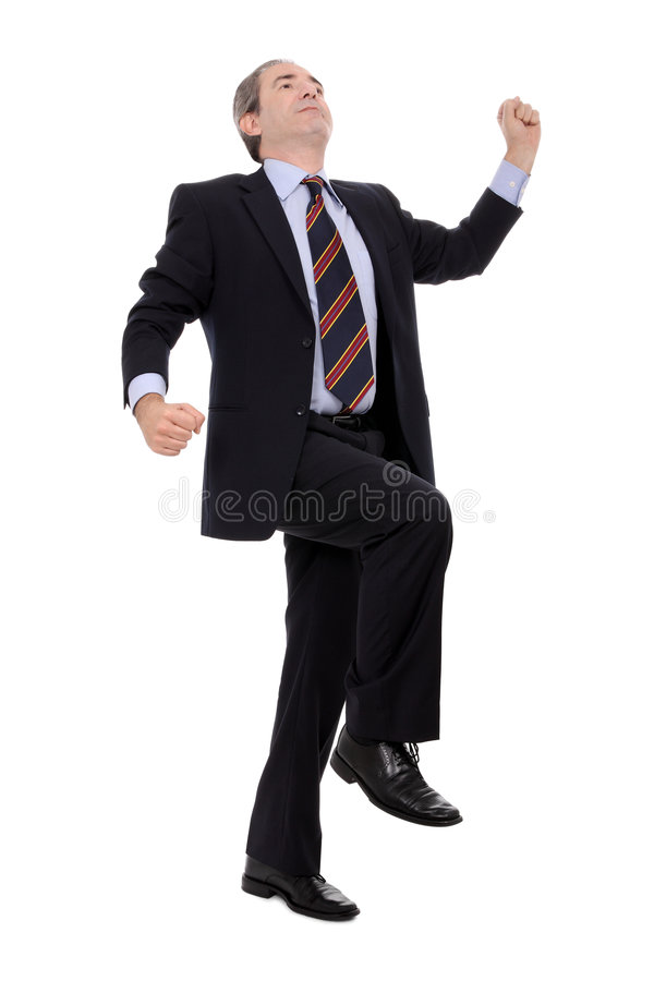 Successful mature businessman portrait. Isolated on white royalty free stock photography