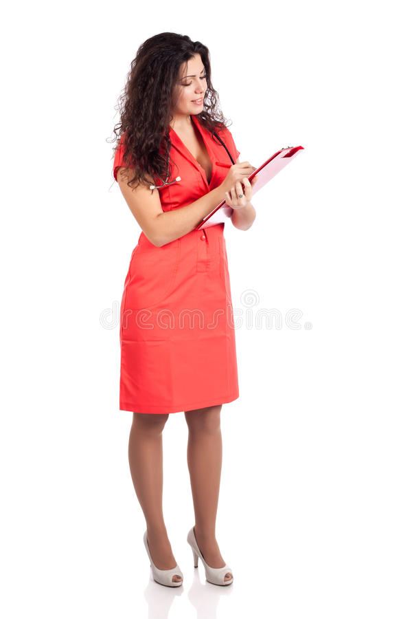 Download Successful Nurse Or Woman Doctor Writing Stock Photo - Image: 23643152