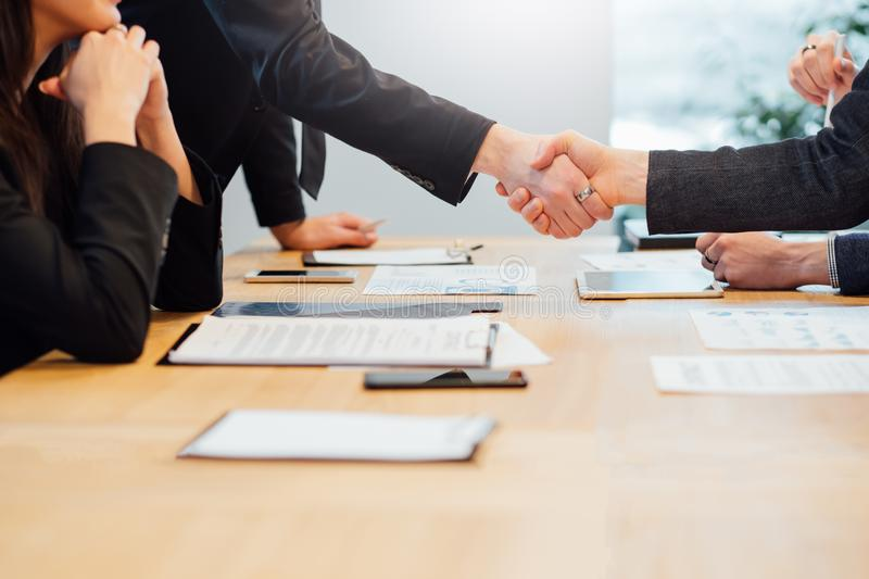 Successful partnership professional cooperation stock photography