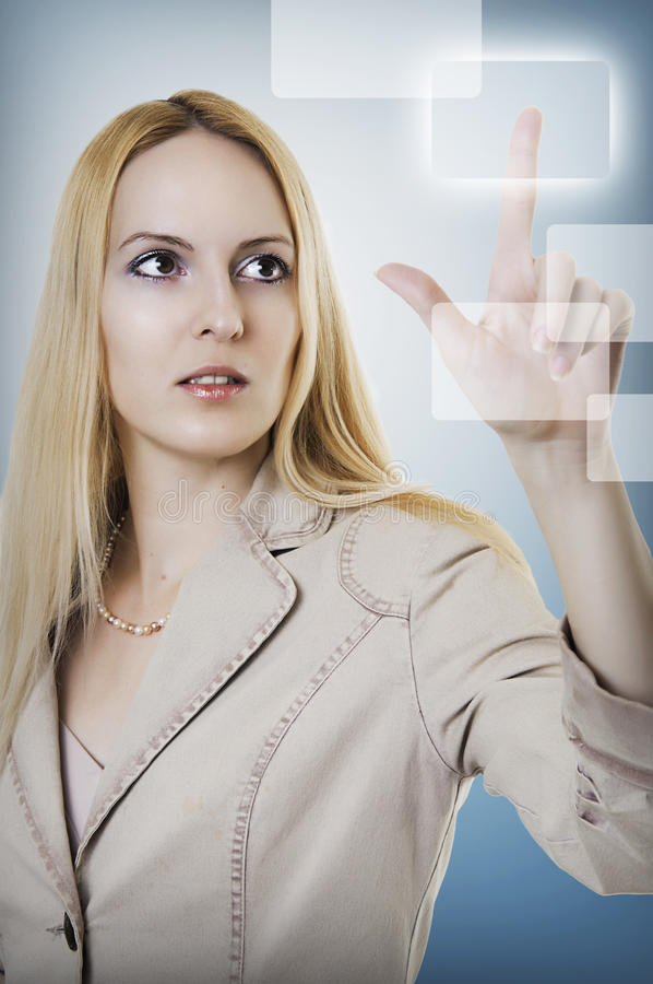 Successful person making use of technologies royalty free stock images