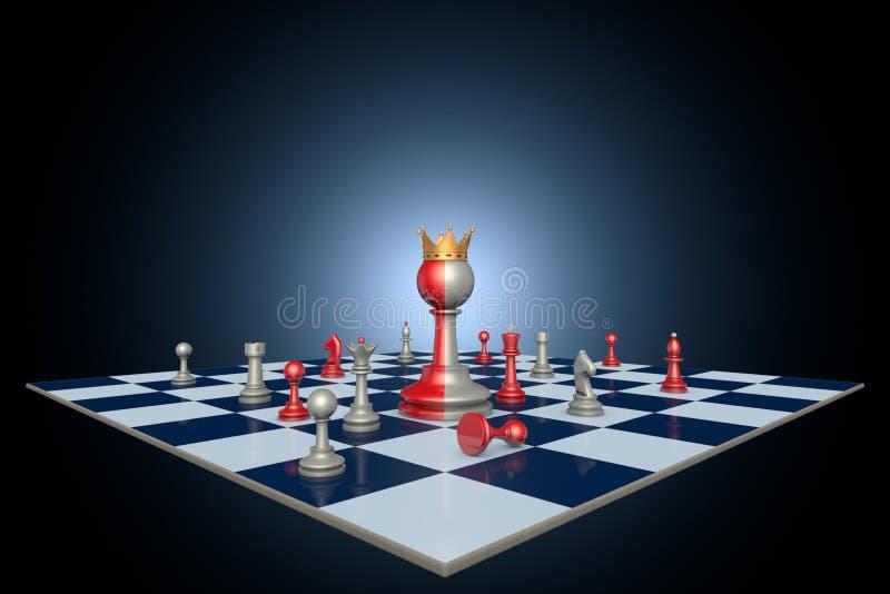 Successful political career (chess metaphor) stock image