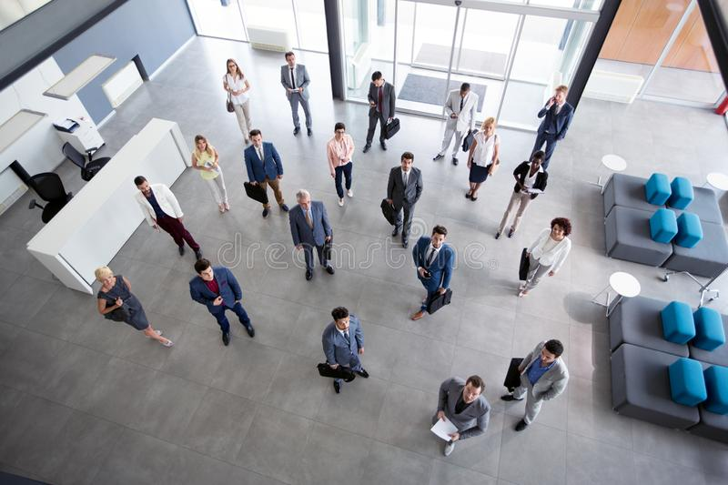 Successful portrait of business people stock image