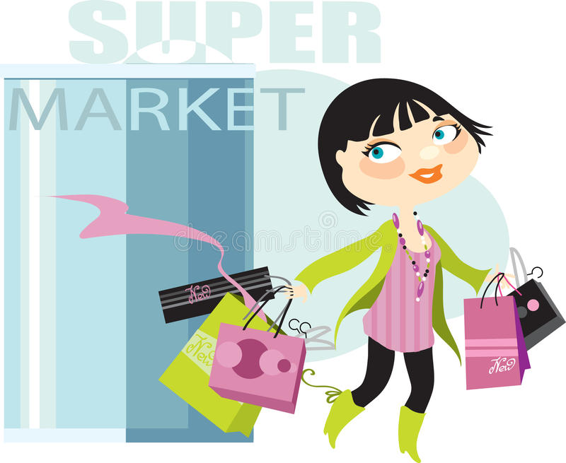 Successful purchases royalty free illustration