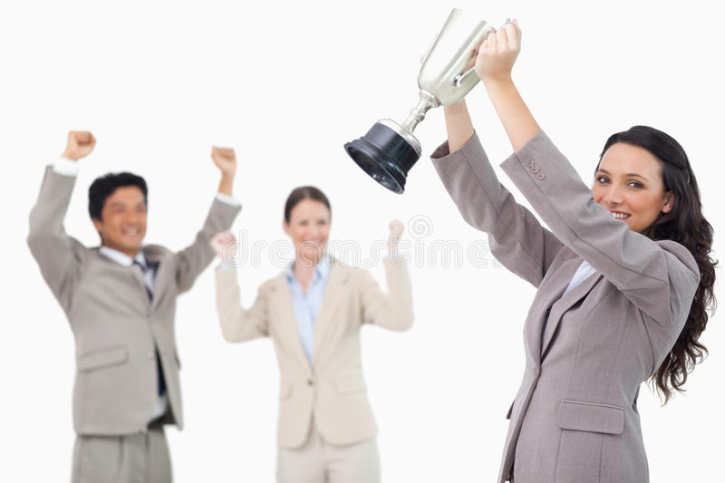 Download Successful Saleswoman With Cup Royalty Free Stock Photos - Image: 22861848