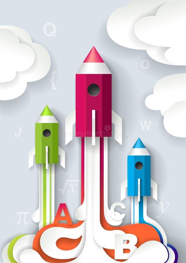 Successful school start concept vector illustration royalty free illustration