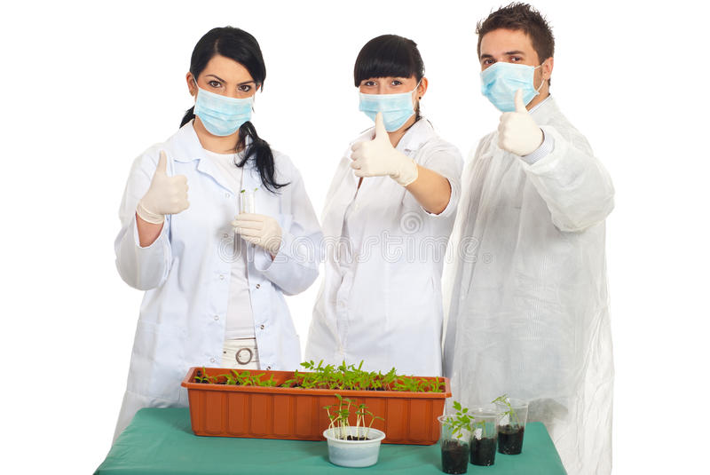 Download Successful Scientists People In Laboratory Stock Image - Image of hold, give: 19107963