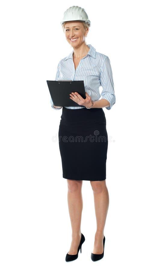 Successful senior female architect
