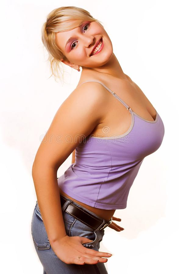 Successful woman smiling stock image