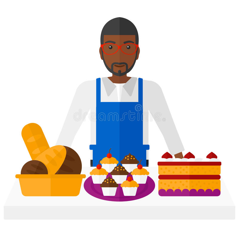 Successful small business owner vector illustration
