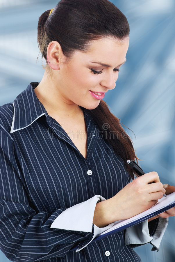 Download Successful Smiling Business Woman Stock Image - Image: 7380197