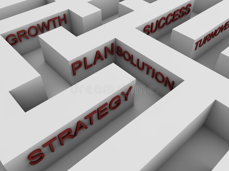 Download Successful strategy - maze stock illustration. Illustration of concept - 21036341