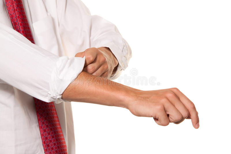 Successful, Strong And Powerful Tackle. Shirt Stock Image